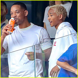 Jaden Smith Hangs Out With Dad Will at World Cup 2018 Final in Russia!