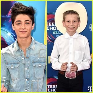 Asher Angel Hits Teen Choice Awards 2018 with Mason Ramsey