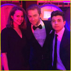 Bridgit Mendler Reunites With Bradley Steven Perry & Jason Dolley at Friend's Wedding
