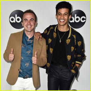 Jordan Fisher & Frankie Muniz Support 'Dancing with the Stars: Juniors' at TCA Press Tour
