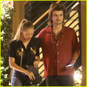 Joe Keery & Maika Monroe Couple Up for Night Out Together!