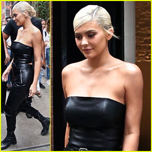 Kylie Jenner Wears All Leather Outfit Ahead of VMAs