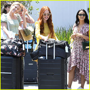 Lili Reinhart, Madelaine Petsch, & Camila Mendes Get Pampered Together at the Day of Indulgence