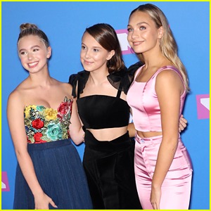 Maddie Ziegler & Lilia Buckingham Were Millie Bobby Brown's Dates to the MTV VMAs 2018