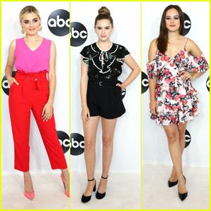 Meg Donnelly, Kyla Kenedy & Hayley Orrantia Glam Up For ABC's Summer Press TCA Party