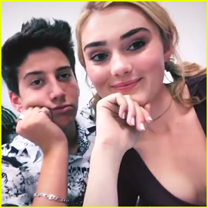 Meg Donnelly Gets Surprise Visit From Milo Manheim at 'American Housewife' Set