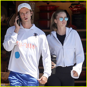 Patrick Schwarzenegger & Abby Champion Couple Up for Lunch Date