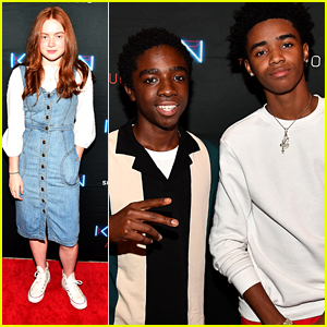 Sadie Sink & Caleb McLaughlin Support Myles Truitt at 'Kin' Premiere
