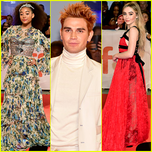 Amandla Stenberg, KJ Apa, & Sabrina Carpenter Attend 'Hate U Give' Premiere at TIFF!