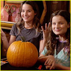 Annie & Hayley LeBlanc Have a Pumpkin Carving Contest With Jack Black!