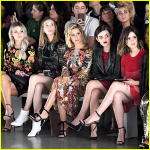 Ashley Tisdale, Lucy Hale, Laura Marano & More Sit Front Row at Naeem Khan