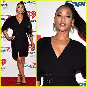 Candice Patton Slays in Black Dress at iHeartRadio Music Festival