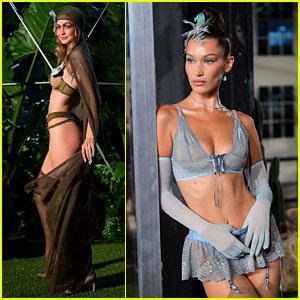 Gigi Hadid & Sister Bella Rock Lingerie Looks at Rihanna's Savage x Fenty Fashion Show!
