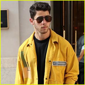 Nick Jonas Heads Out After Visiting Fiancee Priyanka Chopra in New York City!
