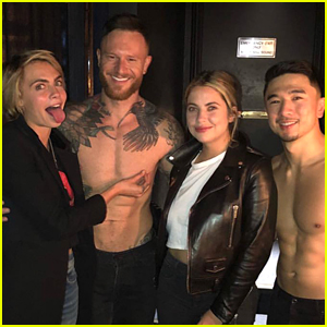 Cara Delevingne & Ashley Benson Check Out 'Magic Mike' in Vegas