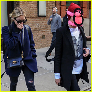 Ashley Benson Holds in Her Laughter While Stepping Out With Monkey-Clad Cara Delevingne!