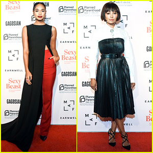 Chandler Kinney & Kat Graham Glam Up For Sexy Beast Gala 2018