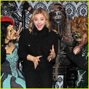 Chloe Moretz Hits Up Knott's Scary Farm With Pal Kaitlyn Dever