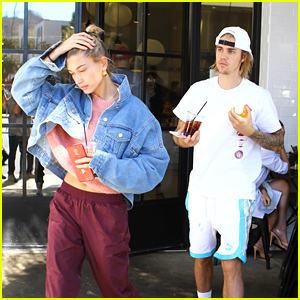 Justin Bieber Grabs Brunch at His Usual Spot with Hailey Baldwin