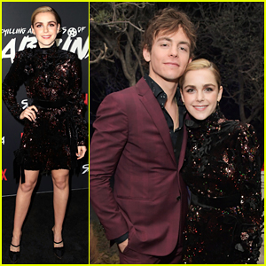 Kiernan Shipka Attends 'Sabrina' Premiere with Ross Lynch!