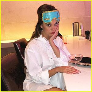 Maia Mitchell Channels Audrey Hepburn for Halloween Weekend in Vegas!