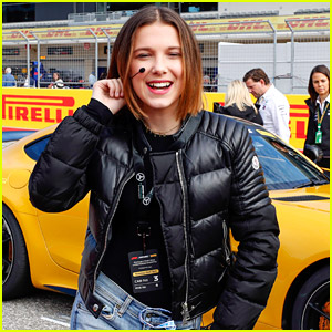 Millie Bobby Brown Plays Crew Chief at F1 Grand Prix Race