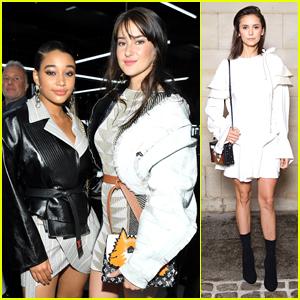 Shailene Woodley, Amandla Stenberg & Nina Dobrev Step Out For Louis Vuitton's Paris Fashion Week Show