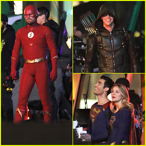 Stephen Amell Suits Up as The Flash For Crossover Filming in Vancouver