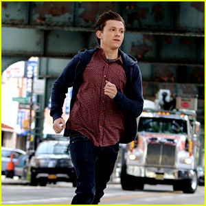 Tom Holland Makes a Speedy Exit While Filming 'Spider-Man: Far From Home'!