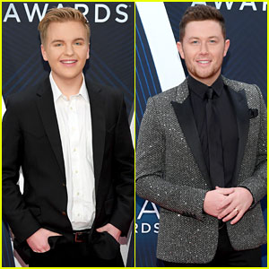 American Idol's Caleb Lee Hutchinson & Scotty McCreery Suit Up for CMA Awards 2018!