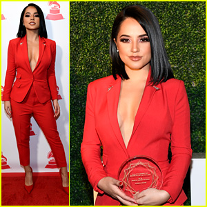 Becky G Shouts Out The People Who Always Believed in Her During Latin Grammys 2018 Leading Ladies of Entertainment Luncheon