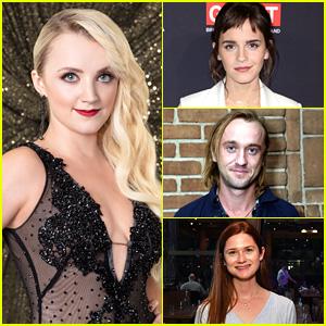 Emma Watson, Tom Felton & More 'HP' Stars Wish Evanna Lynch Luck Ahead of 'DWTS' Finals
