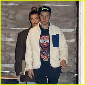 Justin & Hailey Bieber Head to an Evening Church Service Together
