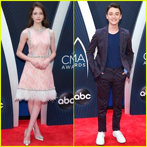 Mackenzie Foy & Noah Schnapp Step Out in Style for CMA Awards 2018!