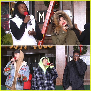 Pentatonix Bundle Up For Late Night Rehearsals for Macy's Thanksgiving Day Parade 2018