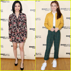 Lana Condor & Anna Cathcart Reunite at Teen Vogue Summit 2018!