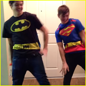Watch Noah Centineo & Jack Griffo Dance To Justin Bieber's 'Boyfriend' in Superhero Capes