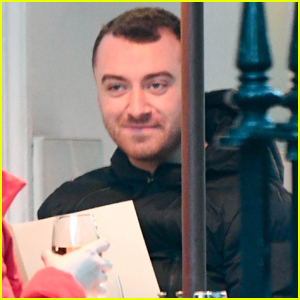 Sam Smith Enjoys a Night Out with a Friend!