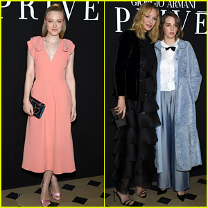 Dakota Fanning & Maya Hawke Attend Giorgio Armani Prive Show in Paris