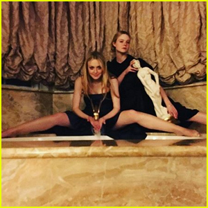 Dakota Fanning Rang in 2019 with Little Sis Elle!