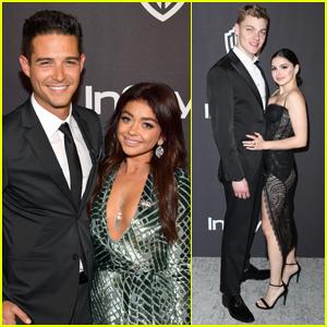 Sarah Hyland & Ariel Winter Bring Their Boyfriends to Golden Globes After Party!