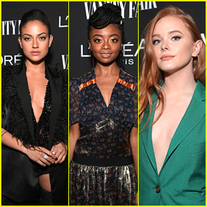 Inanna Sarkis, Skai Jackson & Abigail Cowen Hit Up Vanity Fair's Pre-Oscar Party