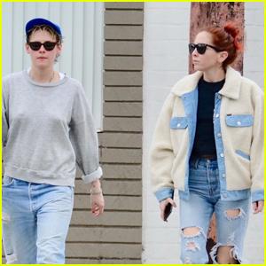 Kristen Stewart Enjoys Some Pampering with Rumored Girlfriend Sara Dinkin