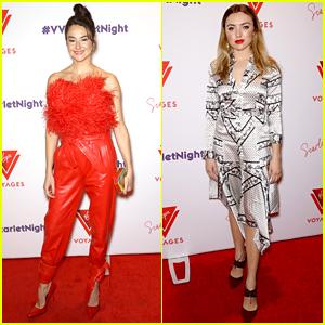 Shailene Woodley & Peyton List Celebrate Valentine's Day at Virgin Event
