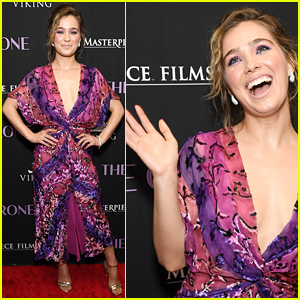 Haley Lu Richardson is Pretty in Pink & Purple at 'The Chaperone' Premiere