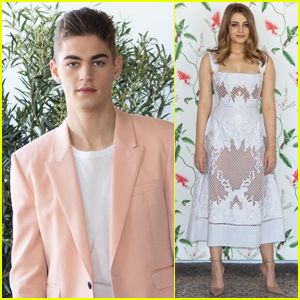 Hero Fiennes-Tiffin & Josephine Langford Attend 'After' Photo Call in Rome
