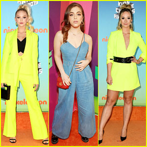 Jordyn Jones & Alisha Marie Go Bright at Kids' Choice Awards 2019