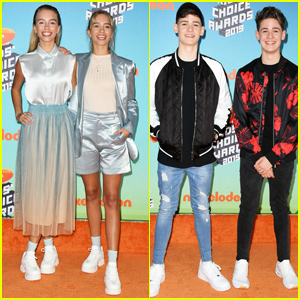 Lisa & Lena Join Max & Harvey & Nick Social Squad at Kids' Choice Awards 2019!