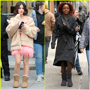Lucy Hale & Ashleigh Murray Continue Filming 'Katy Keene' in NYC
