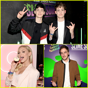 Max & Harvey, Jordyn Jones, Kendall Schmidt, & More Stars Attend Nickelodeon x Instagram Slime Soiree!